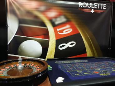 Roulette tafel met decor